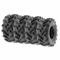 SunF 22x11-9  22x11x9 All Terrain ATV Tires 6 Ply Tubeless  A024 [Set of 4]