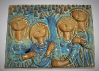Marianne Starck for Michael Andersen & Son Denmark Pottery Wall Plaque Hanging