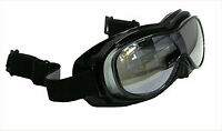 Motorcycle Snowmobile ATV FLOATING GOGGLES Black FIT OVER EYEGLASSES Tinted Lens