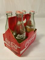 VINTAGE CLASSIC COCA COLA BOTTLES 1986 OPENED FIVE PACK W/ CARRIER COLLECTIBLE