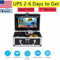 Eyoyo Underwater 50M/165ft Fish Finder Sea/Ice Fishing Camera 1000TVL 7