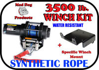 3500lb Mad Dog Synthetic Winch/Mount Kit for 2016-2019 Can-Am Renegade 570