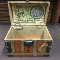 Old Vintage, Lily White Gloss STARCH BOX, Brantford Starch