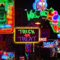 Shape Wall Light Halloween Home Decor Neon Sign Light Plate TRICK OR TREAT MA