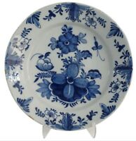 Large Antique Delft Charger with Insect