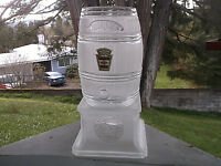 1991 HEINZ 57 Glass Vinegar Pickle Barrel & Stand NO Lid or Spigot Advertising