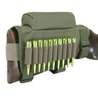 Tourbon Shooting Buttstock Cheek Riser Ammo Pouch Mag Bullets Holder Green USA