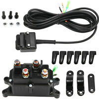 New Contactor Winch Rocker COMBO 12V Solenoid Relay Thumb Switch For ATV UTV Hot