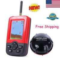 Wireless Sonar Sensor Smart Fish Finder LCD Display 100M Rechargeable Portable