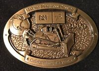 Caterpillar Tractor Vintage Celebrating 75 Years Belt Buckle