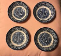 LOT OF 6 LIBERTY BLUE FRUIT BOWLS  5