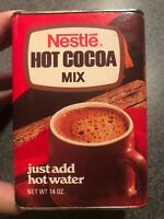 Vintage Nestle Cocoa Cardboard Tin Can NOS Unopened Unused Full 14 Oz 1970s
