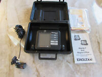 EAGLE Magna II Plus Fish Depth Finder, Head Unit, Transducer, Case