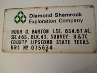 Oil and Gas lease sign Diamond Shamrock