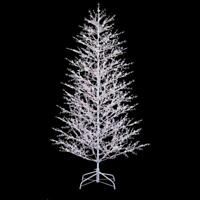 NEW GE 7-ft Pre-Lit Winterberry White Artificial Christmas Tree with 500 LEDs
