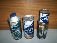 4 Vintage Whiz Hollingshead Tins JP-1 Washer PVC Cleaner & Gas Line Anti-Freeze