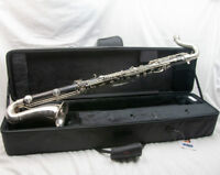 Leblanc Professional Wood Bass Clarinet, Made in France, Two Piece Low Eb, Nice!