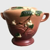 🇺🇸 Roseville Pottery Snowberry Pink #1R8-6  Excellent condition