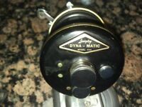 Langley DYNA-MATIC Fishing Reel Model 444 Tested Working with new Oil / Lube