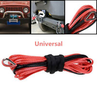 Wonderful 1/4'' x 50' Synthetic Winch Rope Cable Line for ATV UTV Off-Road Red