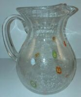Beautiful Art Glass Millefiori Hand Blown Large 9