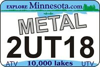 Minnesota Metal! UTV/ATV license Plate - Ships Today!  Click to see Video in Ad!