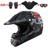 DOT Motorcycle Motocross Dirt Bike ATV Adult Helmet Gloves Goggles Mask S M L XL