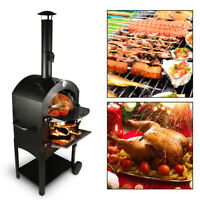PIZZA OVEN OUTDOOR WOOD FIRED Grill Stainless Steel Barbecues Best Choice New