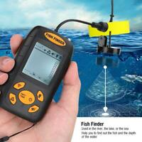 Lucky Portable Fish Finder 100M Sonar Sounder Transducer for Ice Boating Fishing