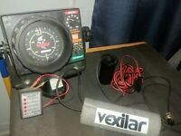 Vexilar FL-8 w/ Transducer, Power Cable, Battery Status Indicator   **NO BATTERY
