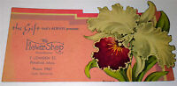 Antique American Floral Advertising Ink Blotter! The Flower Shop Greenhouse! MA!