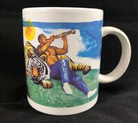 Heritage Collection African American Man with Tiger Clarinet Jazz Coffee Mug