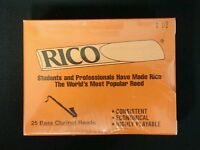 Rico Bass Clarinet Reeds 25-pack (Strength 1.5)