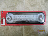 CRAFTSMAN TIN WRENCH THERMOMETER NIP MAN CAVE, SHOP, DAD GIFT 5 1/8W x17 5/16 H