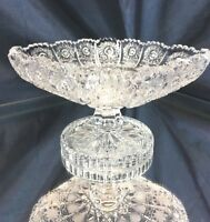Crystal Glass Footed Bowl 5