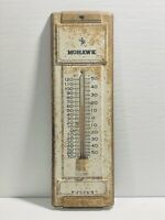 Vintage Tin Mohawk Advertising Thermometer SIGN, Antique Alchemy
