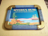 RARE VINTAGE  MYERS'S RUM JAMAICA NAUTICAL BEER MIRROR SIGN - NICE CONDITION