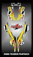 Honda TRX 250R  ATV SEMI CUSTOM GRAPHICS KIT RAGE