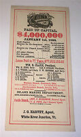 Antique American Aetna Life Insurance Co C.1896 Advertising, Old CT Ink Blotter!