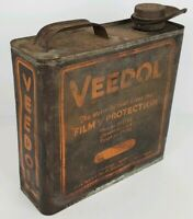 Antique Veedol Tide Water Motor Oil Metal Gallon Can Advertisement Spout