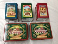 Lot of 5 Nestles Toll House Cookies VINTAGE COLLECTIBLE TINS