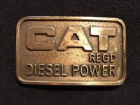 Caterpillar Tractor Vintage Cat Diesel Power Canadian Issue Belt Buckle