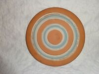 Early Vintage R R Stahl Redware Pottery Hot Plate Holder, 1948, Signed