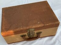 Vintage Suitcase 15quot; brown old light weight luggage storage travel hobby prop