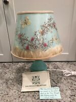 Van Briggle Lamp Turquoise Ming Blue Hand thrown By Fred Wills Original Shade