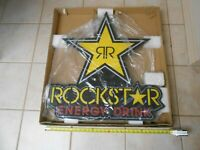 NEW IN PACKAGE LARGE ROCKSTAR ENERGY DRINK LED SIGN NOS BAR / MANCAVE / GAMEROOM
