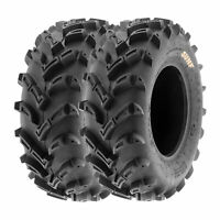 SunF 25x8-12 ATV Tires 25x8x12 All Terrain Tubeless 6 Ply A024  [Set of 2]