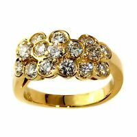 Van Cleef and Arpels Fleurette Diamond Gold Ring 0000218