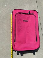 Embark Rolling Carry On Pink Suitcase Wheels Expandable Handle
