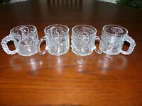MCDONALDS BATMAN FOREVER FROSTY GLASS  MUGS SET OF 4 VINTAGE RARE COLLECTIBLE 95